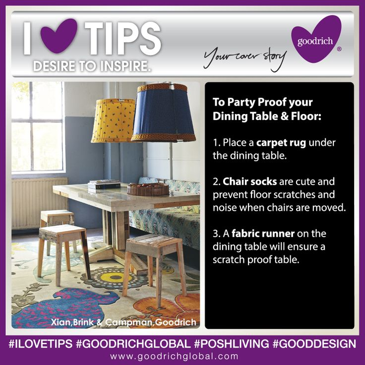 I LOVE Tips:How To Party Proof Your Dining Table U0026 Floor. Dining Areas