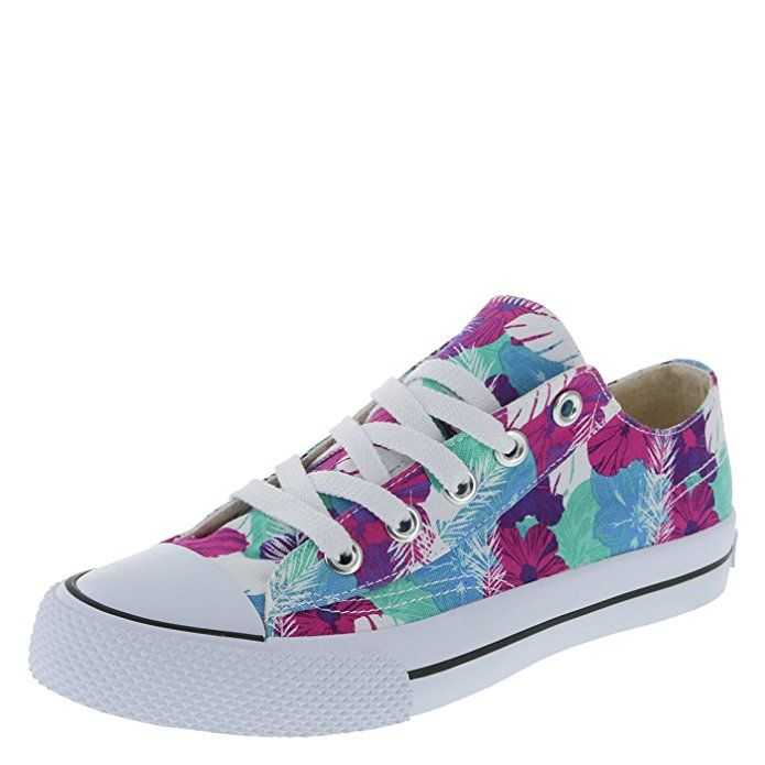 fe4c4a1f9c0d Airwalk Women s Blue Tropical Canvas Legacee Sneaker 5 Regular ...