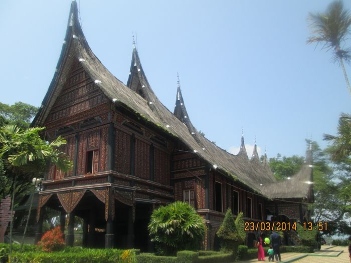 traditional house from west sumatera, indonesia