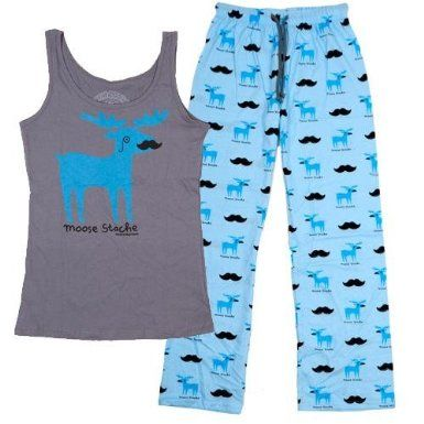 David & Goliath Moose Stache Womens PJ Set: Amazon.co.uk: Clothing