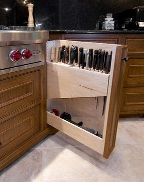 Because a  blade is sharp and it can  damage the  various other  kitchen area utensils.  Below are some ideas of  blade storages for your kitchen.