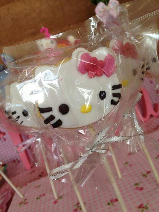 Hello Kitty biscuit pop