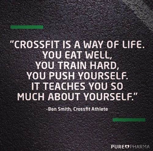 Crossfit Quotes: CrossFit Is A Way Of Life. You Eat Well, You Train Hard