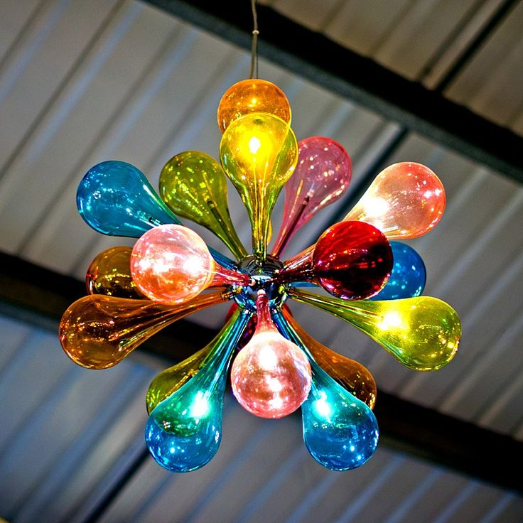 The Atomic Bang Rainbow Pendant Light Features A Round