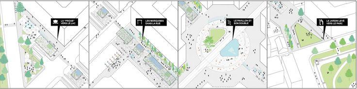Riqualification of Rond-Point de Rive - Rue Pierre Fatio: pubblic place_Genève_Switzerland | contest | 2015