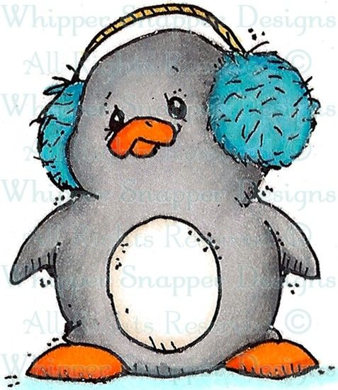 Ike - Penguins - Animals - Rubber Stamps - Shop