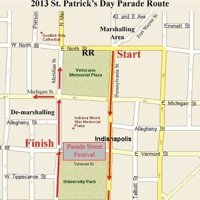 Join us at Scotty's downtown (on Pennsylvania, 1 block North of Banker's Life Fieldhouse) after the St. Patrick's Day parade (11:30 am). Get the party started early with green beer, Hoosiers Big 10 Tournament game & Laker's vs. Pacers tonight...  More activities downtown all weekend here from Visit Indy http://www.indydt.com/stpats.cfm