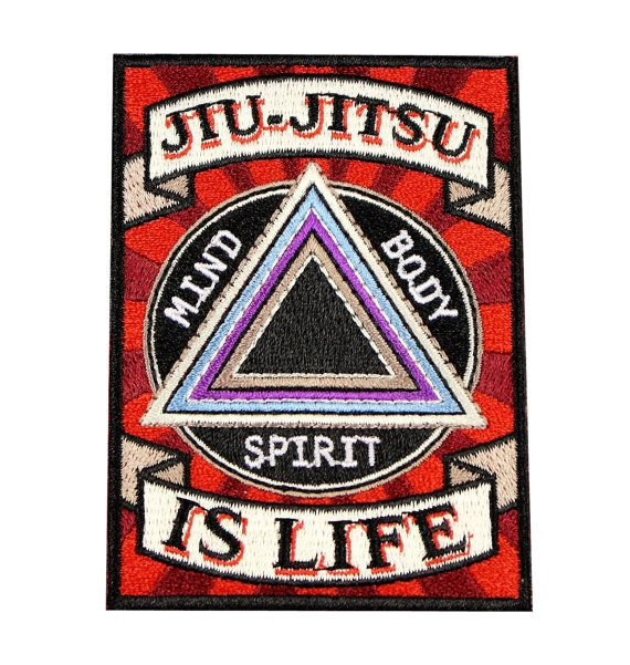Jiu Jitsu BJJ Gi Patch Jiu-Jitsu IS LIFE Jiu Jitsu Gift Iron-on Christmas Stocking Stuffer