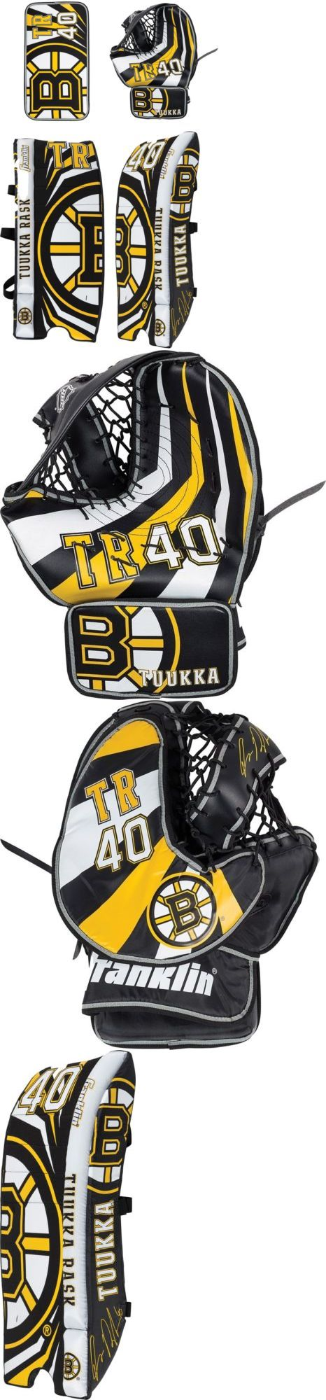 Gloves and Blockers 79763: Franklin Junior Tuukka Rask Street Hockey Goalie Pad Set -> BUY IT NOW ONLY: $231.95 on eBay!