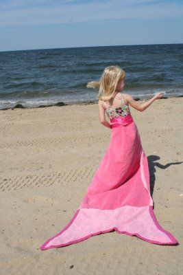 Mermaid Tail Towel will make your little girl the belle of the beach (@ Little Page Turners)