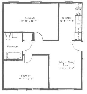 33 Best Floorplans Images On Pinterest Apartment Floor Plans Two Bedroom A