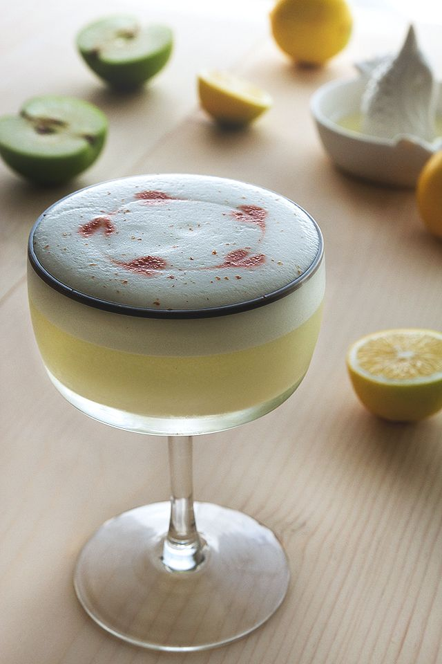 Pisco Apple Sour Cocktail Recipe - Love Pisco Sours! Gonna have to give this version a try as I also love sour apple flavor!