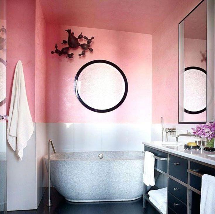 30 schöne rosa Schatten-Badezimmer-Entwürfe für Ihr perfektes Traumhaus