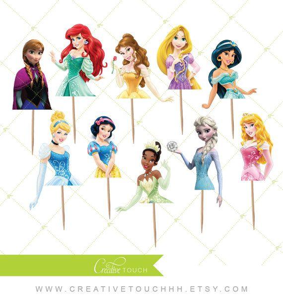 Princess Cupcake Toppers Castillo princesa por CreativeTouchhh