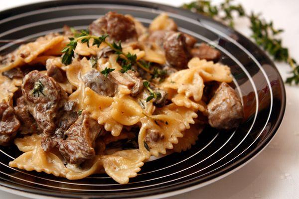 Паста с индейкой и грибами. В этой пасте так гармонично переплетаются ароматы грибов, вина, чеснока и специй, что от нее просто невозможно оторваться!
