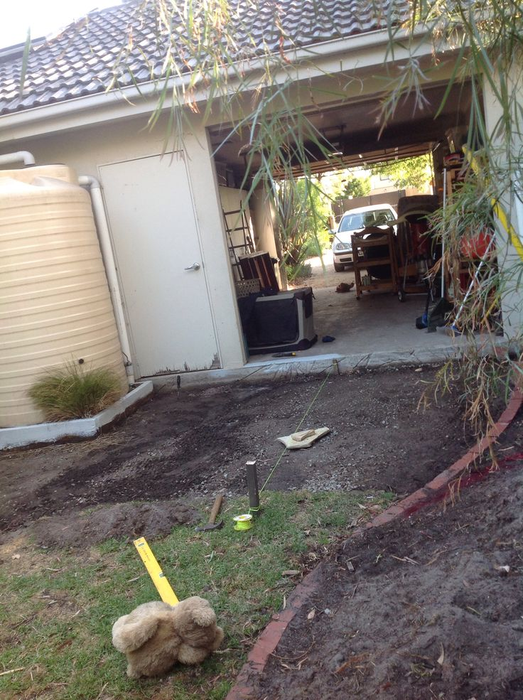 The one area I can't grow grass is about to get fixed! Watch this space.