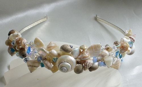 Swarovski Starfish & Shell Tiara-Shades of Blue by Jolly Fine Jewellery, via Flickr