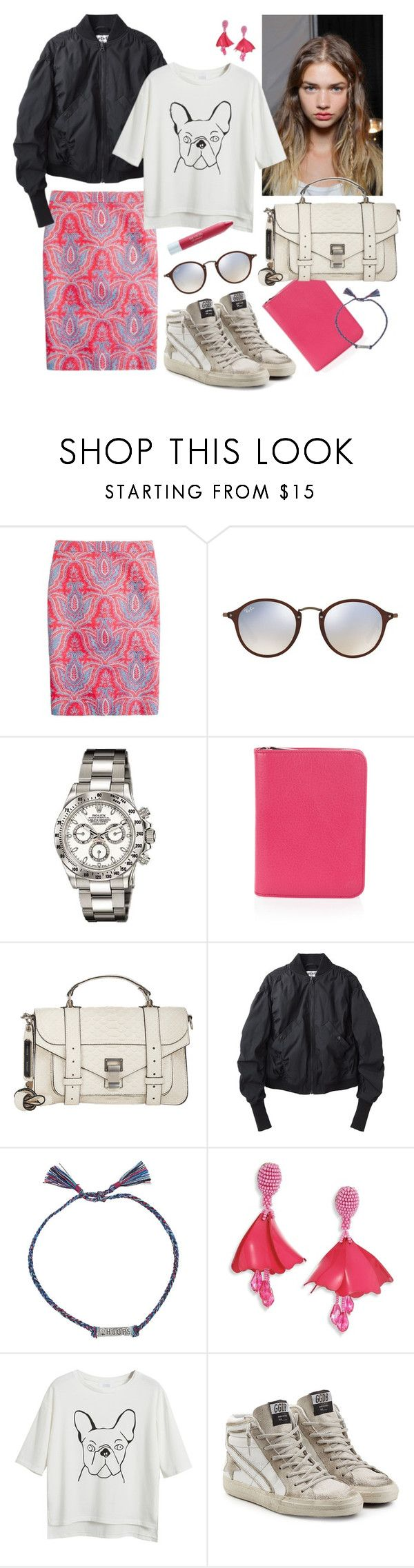 """Untitled #1577"" by doxophobia ❤ liked on Polyvore featuring J.Crew, Ray-Ban, Andrea, Mulberry, Charlotte Ronson, Proenza Schouler, Acne Studios, Mathias Chaize, Oscar de la Renta and Chicnova Fashion"