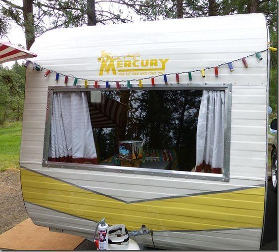 Yellow Mercury Travel Trailer | vintage camper - travel caravan <O> SOTF ?