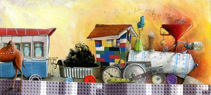 """A locomotiva""  Texto de Julian Tuwin  Editado pela Qual Albatroz"