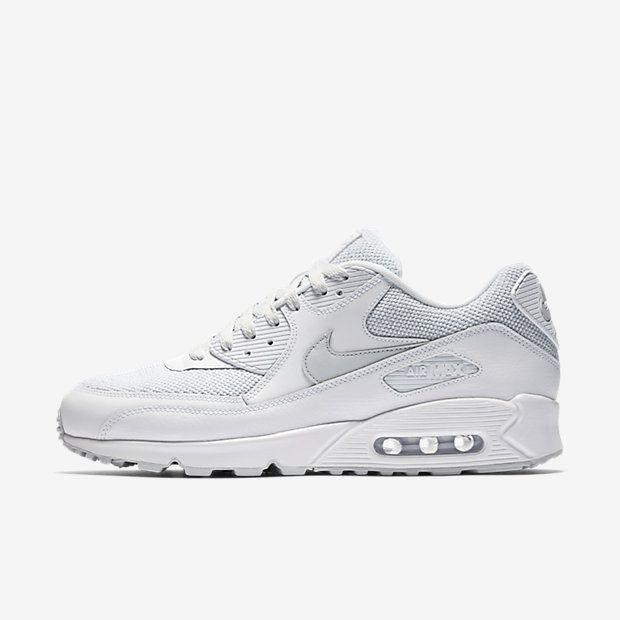 Chaussure Nike Air Max 90 Pas Cher Homme Essential Blanc Platine Pur
