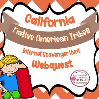 CA Native American Tribes: Internet Scavenger Hunt Webquest