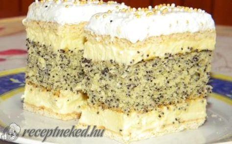 Francia mákos krémes recept fotóval http://receptneked.hu/edes-sutemenyek/francia-makos-kremes-5/