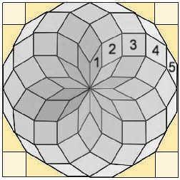 Schablonen gratis - Hexagons Pentagons Dreiecke Quadrate etc drucken fürs Lieseln