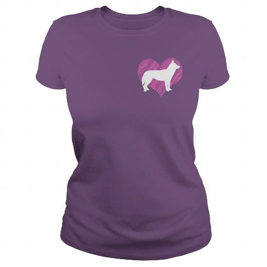 Awesome Siberian Husky Lovers Tee Shirts Gift for you or your family your friend:  I Love My Siberian Husky 2 on Pink Heart Tee Tee Shirts T-Shirts