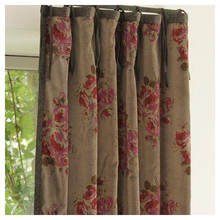 15 best rideaux velours images on pinterest closet rod curtains and velvet curtains. Black Bedroom Furniture Sets. Home Design Ideas