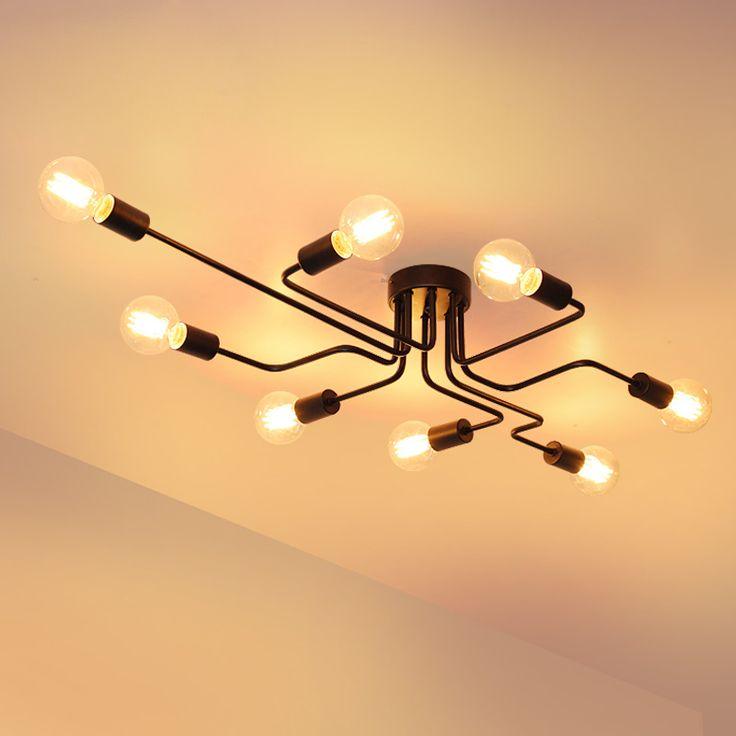 Interesting Pas Cher Mtal Nordique Plafond Luminaire Led
