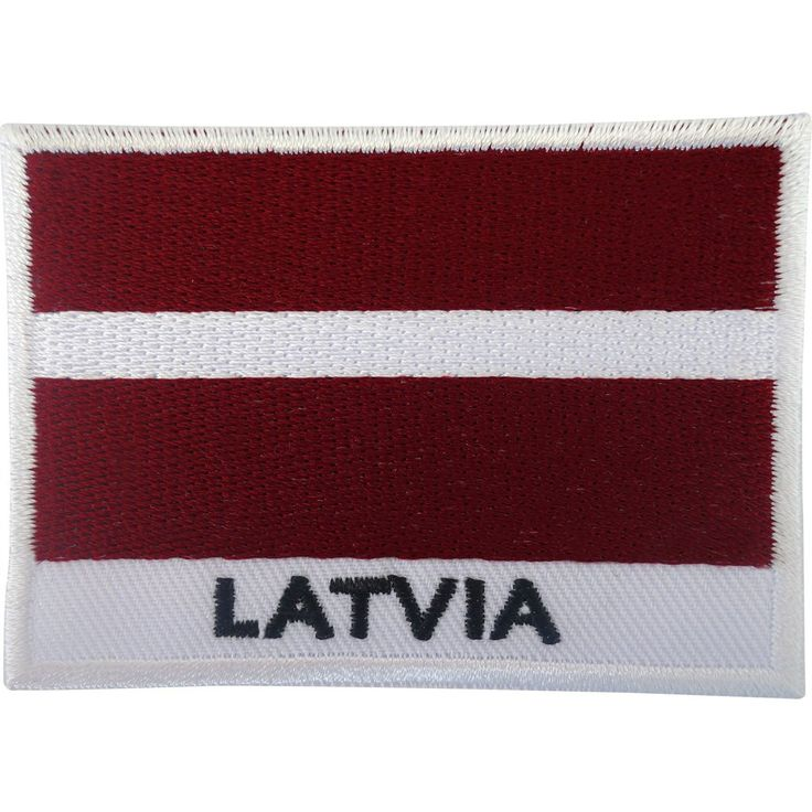 Latvia Flag Patch Iron On / Sew On Badge Embroidered Embroidery Latvian Applique