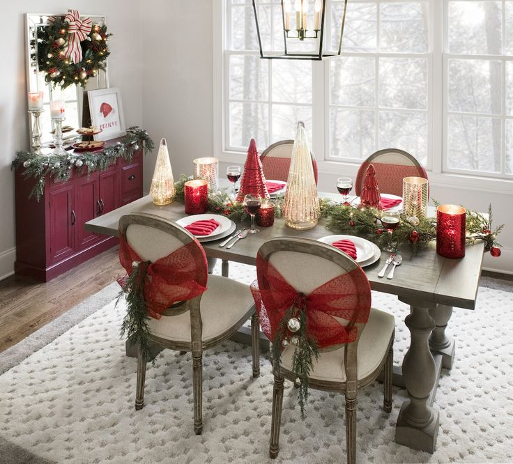 Christmas Dining Room Ideas To Add A Flourish To Christmas: 168 Best Decorating For Christmas Images On Pinterest