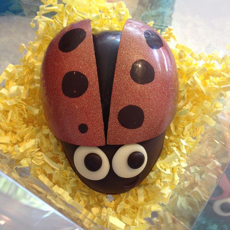 Chocolate Ladybug or Glückkäfer (for Germans, they bring luck) www.gemchocolates.ca
