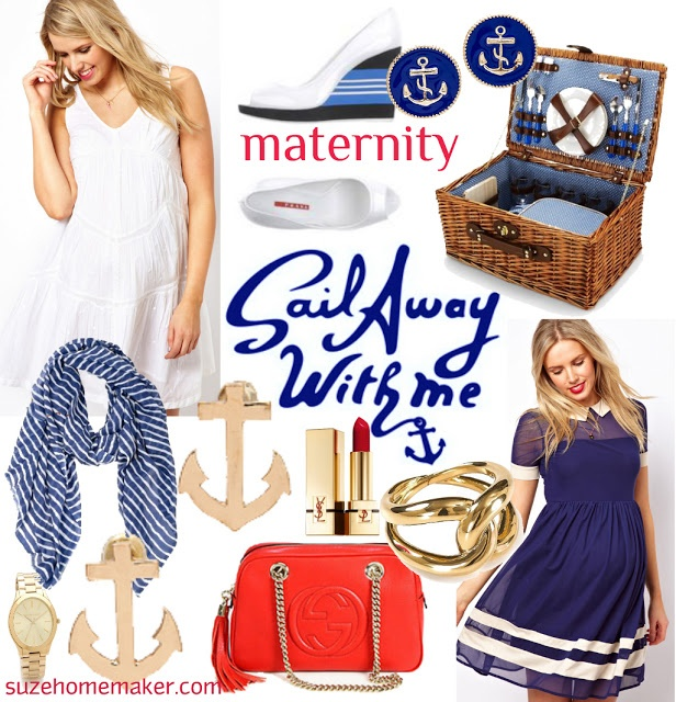 Nautical Maternity Dresses under $50!