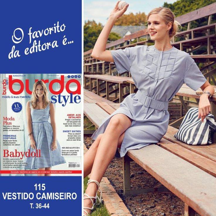 8 best burda style - julho 2016 images on Pinterest | Frock dress ...