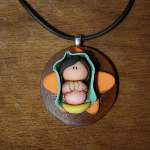 Virgen de Guadalupe Necklace Pendant Our Lady of Guadalupe by gavo, $30.00