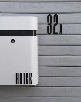 1930s modernist Arne Jacobsen door numbers and letters by Design Letters