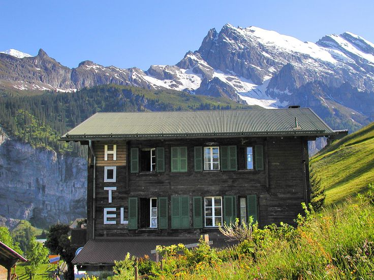 Gimmelwald: The Swiss Alps in Your Lap by Rick Steves | ricksteves.com. Stayed here! Walters place