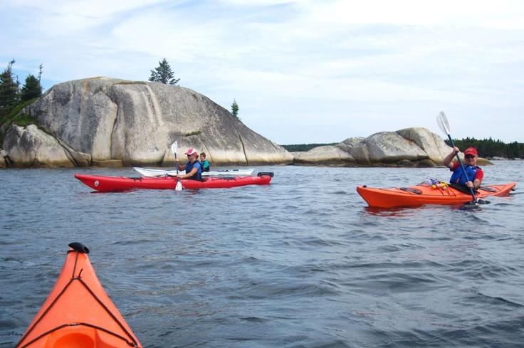 Kayaking near Prospect Bay, Nova Scotia