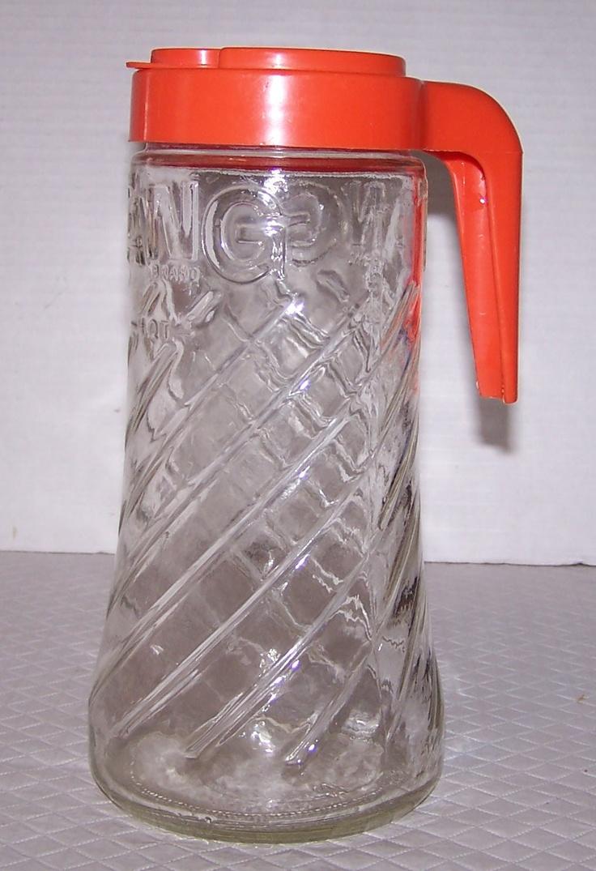 Vintage Anchor Hocking 1 Quart Swirled TANG Glass Pitcher