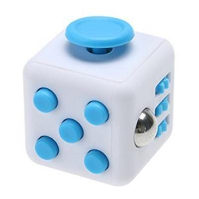 Image of Printed Fidget Box. Promotional Fidget Cube. Blue