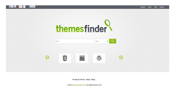 Home page of Themesfinder http://www.themesfinder.com/