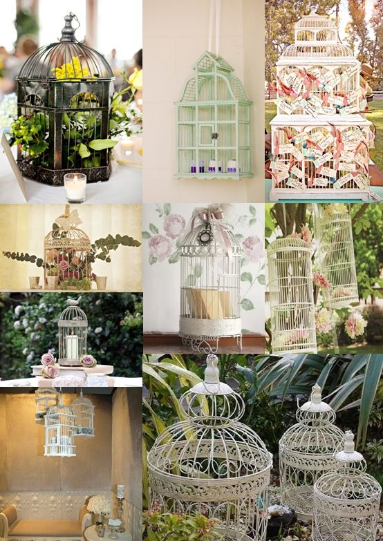 We really love the idea of using vintage birdcages as part for Decoration usine vintage