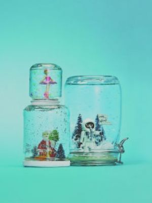 Make gorgeous snowglobes at home with your kids. December 2012 issue of Today's Parent.   Crafted the snowglobes and wrote the text. Photo: Geoffrey Ross