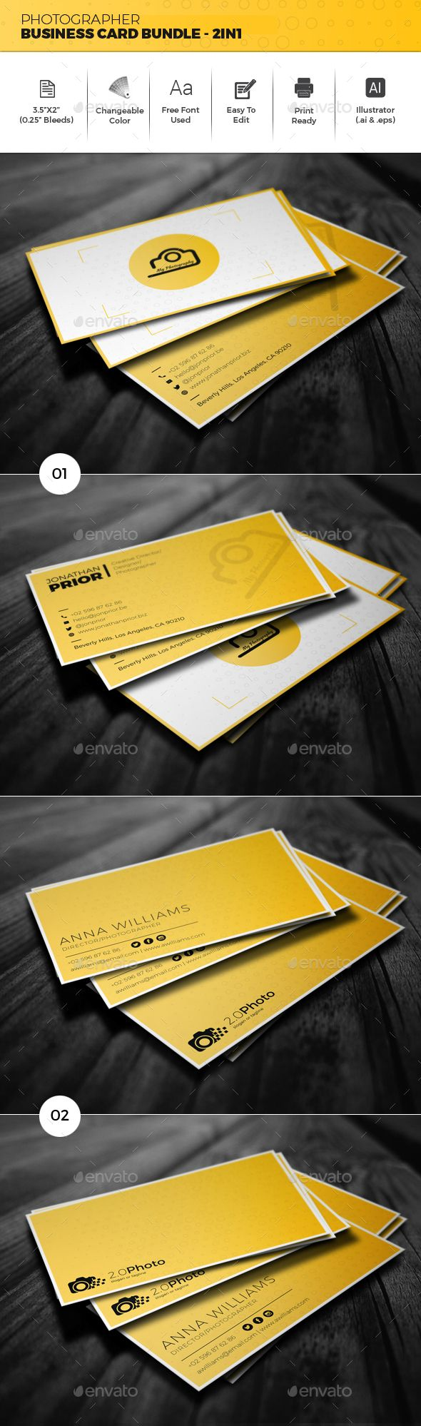 Best 25 photographer business cards ideas on pinterest photographer business card bundle 2in1 magicingreecefo Image collections