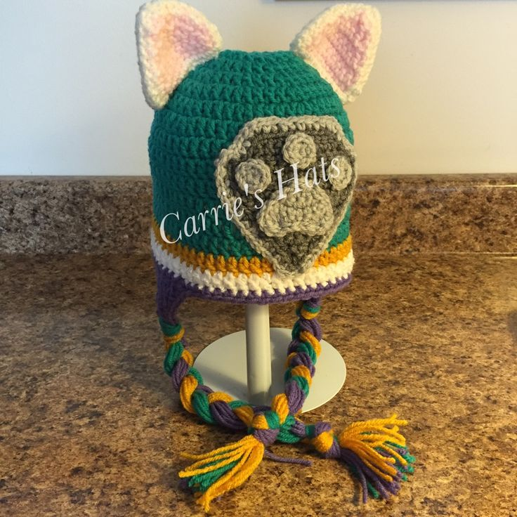 Crochet Hat Pattern Paw Patrol : Paw Patrol Everest Crochet hat pattern https://www.etsy ...