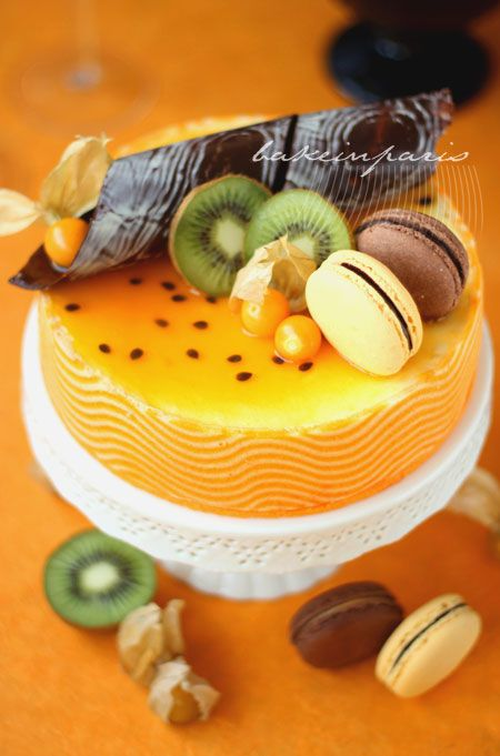 Passion Fruit Mousse Joconde