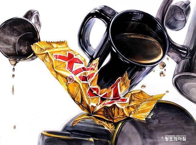 #블랙머그컵그리기 #TWIX쵸코바 #트윅스쵸코바 #coffee그리기 #커피드로잉 #커피스타그램 #기초디자인 #시범동영상 #그림스타그램…