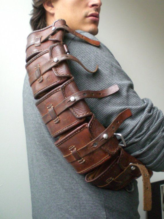 Vintage Swedish Military Leather Ammo Belt - I don't know what I'd use it for but I love vintage leather stuff